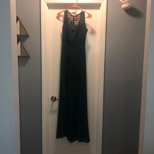 Formal green maxi dress, worn twice.